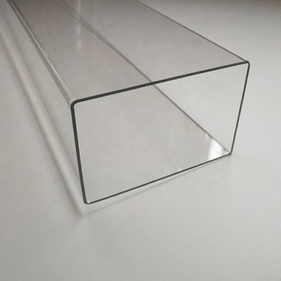 clear plastic square tubing