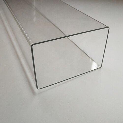 clear plastic square tubing