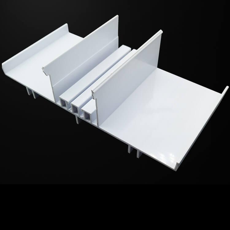 White rigid PVC T Profile