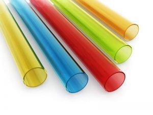 Color clear PMMA pipe tube