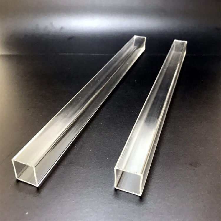 clear plastic square tubes