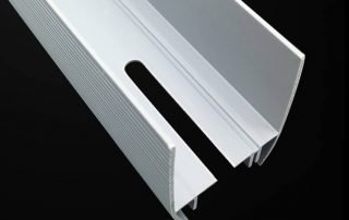 white PVC H Channel Profile