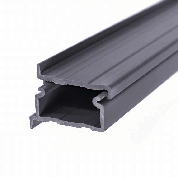 Black PVC profile housing for wire cable