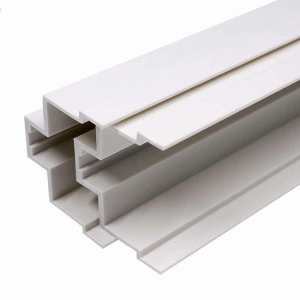 white rigid PVC angle profile for cabinet