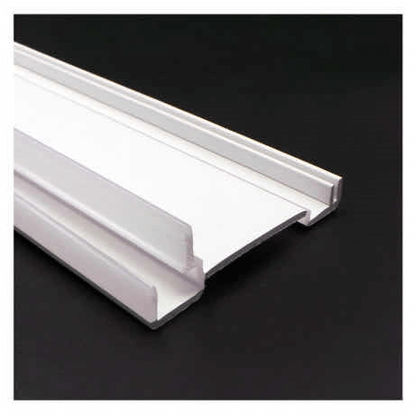 White ABS Extruded Plastic Profile