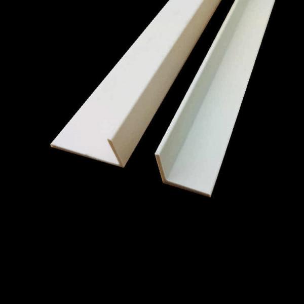 white PVC angle profile