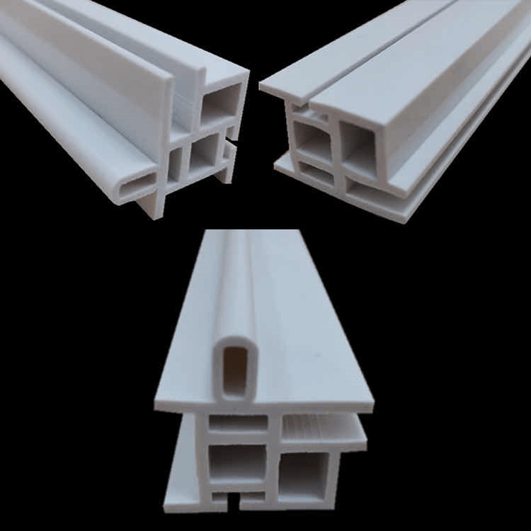 Custom white PVC Plastic Extrusion Profile