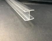 Transparent clear plastic profile