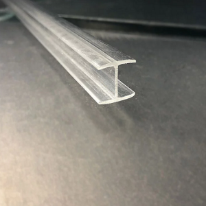 Transparent clear plastic profile