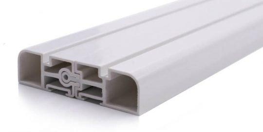 Flame retardant PVC plastic profiles
