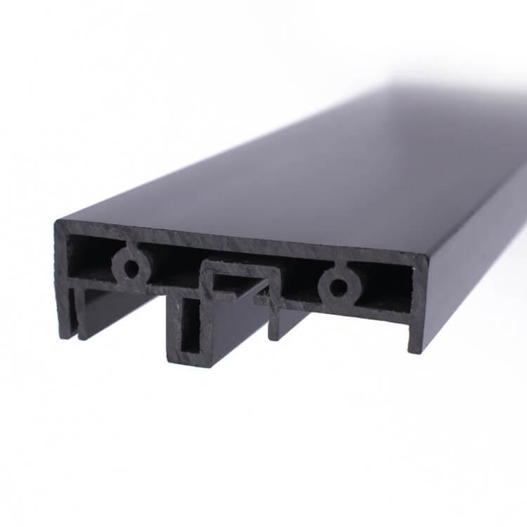 Flame retardant PVC bright surface extruded plastic profile