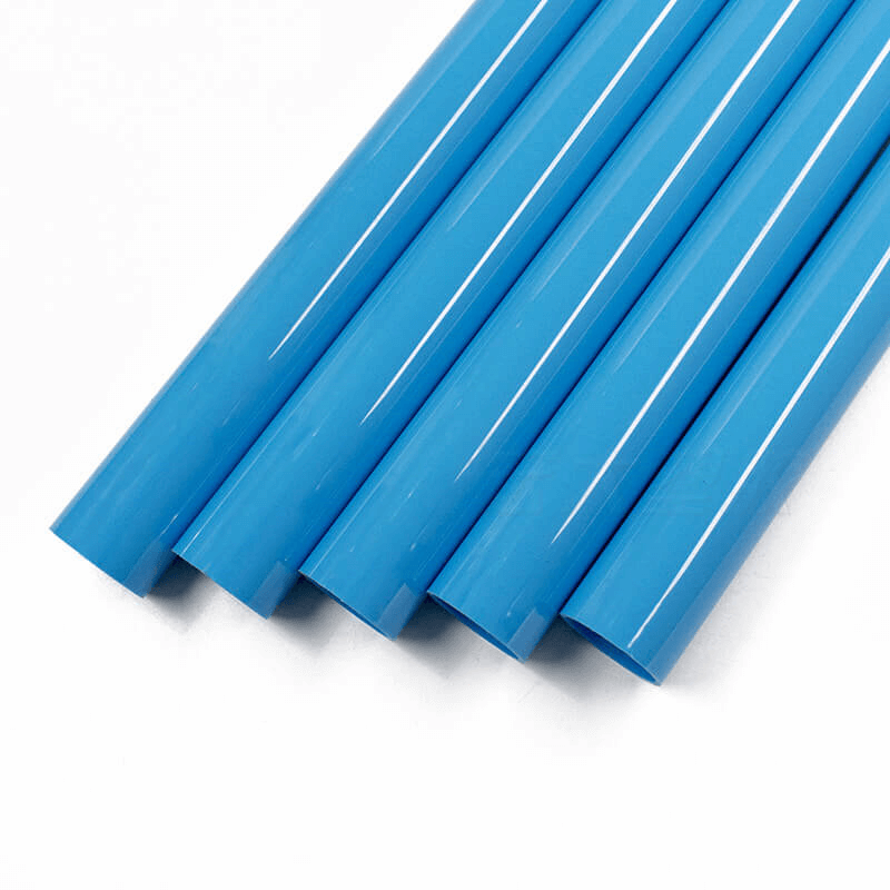 Extruded PVC pipe or PE pipe production