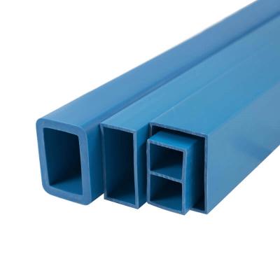 Extruded square plastic pipe